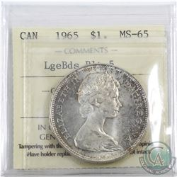 Silver $1 1965 LB Blt5 ICCS Certified MS-65