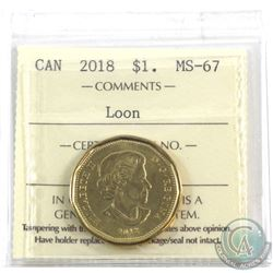 Loon $1 2018 ICCS Certified MS-67