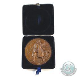 Medal: 1893 Columbian Exposition official award medal in original tin display case. Prisitine uncirc