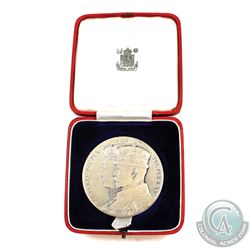 Medal: 1910-1935 Silver Jubilee Medal of King Geroge V. With original display case (Silver, 57mm, Ei