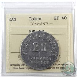 Hudson Bay Company 20 MB token Labrador District ICCS Certified EF-40