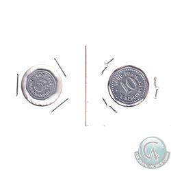 Set of two Hudson Bay Company Yorkton Saskatchewan 5 & 10 cent Octagonal tokens. (Gingras 280  & 280