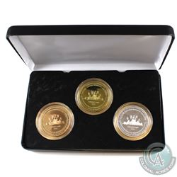 Tokens, 1952-2012 Royal Canadian Numismatic Association 3-coin Silver, Brass, & Copper Set. Commemor