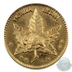 Scarce! Manitoba: 1898 $1/2 (50-cent) Manitoba Gold. This coin was made for the Regency Coin and Sta