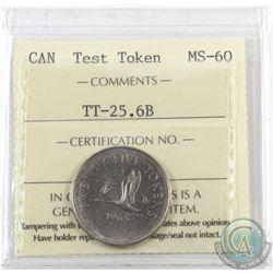 Test Token 1965 25-cent TT-25.6B ICCS Certified MS-60