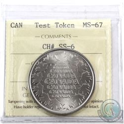 Test Token Salesman Sample Canada CH# SS-6 ICCS Certified MS-67