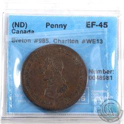 Token: WE13 Cossack One Penny, Breton 985 CCCS Certified EF-45