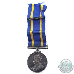 Medal, Royal Canadian Mounted Police long service and good conduct medal, George V,  english. With o
