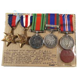 Voluntary WWII Medal, 1939-1945 War Medal, 1939-1945 Defense Medal, France/Germany Star, The 1939-19