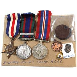 Voluntary WWII Medal, 1939-1945 War Medal, France/Germany Star, Dog Tags, Gerneral Service Pin, Legi