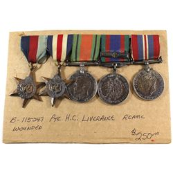 Voluntary WWII Medal, 1939-1945 War Medal, The Defense Medal, The 1939-1945 Star, The France and Ger