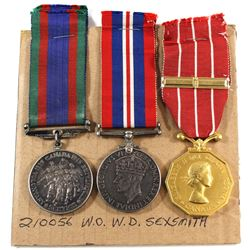 Named EIIR Canadian Forces Decoration Medal, Voluntary WWII Medal & 1939-1945 War Medal. William Don