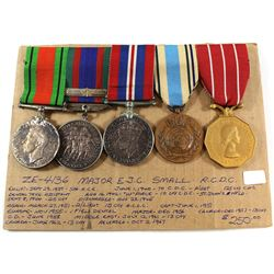 Voluntary WWII Medal, 1939-1945 War Medal, 1939-1945 Defence Medal, United Nations Emergency Force M