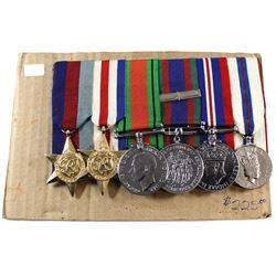 Voluntary WWII Medal, 1939-1945 War Medal, 1939-1945 Defense Medal, France/Germany Star & The 1939-1