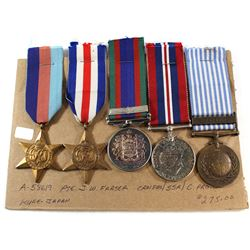 Voluntary WWII Medal, 1939-1945 War Medal, France/Germany Star, The 1939-1945 Star & Korea United Na