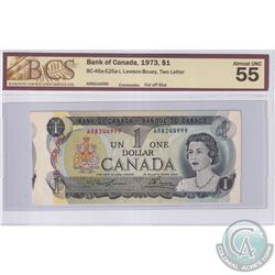 Error BC-46a-E25a-i 1973 Bank of Canada $1, Lawson-Bouey, Two Letter, S/N: AR8244999, Cut Off Size,
