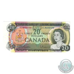 Error BC-50a 1969 Bank of Canada $20 Note S/N: EL8600100 with Off Centre Cutting.