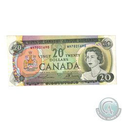 Error BC-50b 1969 Bank of Canada $20 Note S/N: WH7021690 with Off Angle Mis-cut.