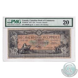 75-16-04-10 1917 Canadian Bank of Commerce $10, Arid-Rowley, S/N: 290360-D. PMG Certified VF-20. *Ra