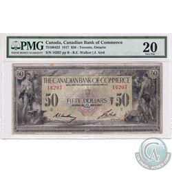 75-16-04-22, 1917 The Canadian Bank of Commerce $50, B.E. Walker - J. Arid, S/N#16207/B PMG Certifie