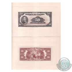BC-14FP & BC-14BP 1935 Bank of Canada French $50 Face Proofs (Lot includes Front and Back Proofs). *