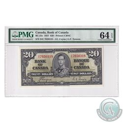 BC-25c 1937 Bank of Canada $20, Coyne-Towers, S/N: H/E7650318. PMG Certified Choice UNC-64 EPQ!