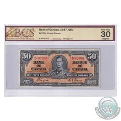 BC-26c 1937 Bank of Canada $50, Coyne-Towers, S/N: B/H4682600. BCS Certified VF-30 Original.