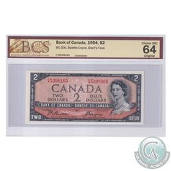 BC-30b 1954 Bank of Canada Devil's Face $2, Beattie-Coyne S/N: F/B5398165. BCS Certified Choice UNC-