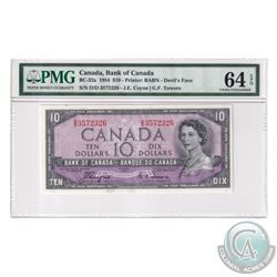BC-32a 1954 Bank of Canada Devil's Face $10, Coyne-Towers, S/N: D/D3572326. PMG Certified Choice UNC
