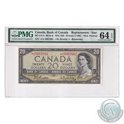 BC-41bA 1954 Bank of Canada Modified Replacement $20, Beattie-Rasminsky, S/N: *A/E0067692, PMG Certi