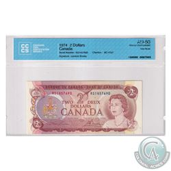 BC-47aT 1974 Bank of Canada Test $2, Lawson-Bouey, S/N: RS1457690. CCCS Certified AU-50.