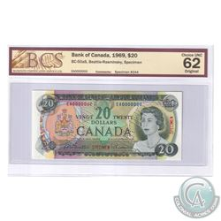 BC-50aS 1969 Bank of Canada Specimen $20, #244, Beattie-Rasminsky, S/N: EA0000000. BCS Certified Cho