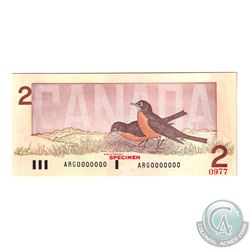 Set of 6 Matching SPECIMEN Notes of the Birds of Canada Issue (Set#0977). All PMG Certified Gem UNC-