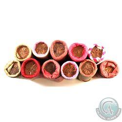 Rolls: 1-cent Original 1963, 1964, 1965, 1967, 1968, 1970, 1972, 1973, 1976, 1977 & 1979. 11 Rolls.