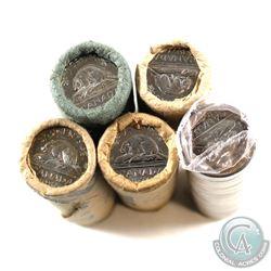 Rolls: 5-cent Original 1970, 1976, 1979, 1986 & 1988. 5 Rolls.