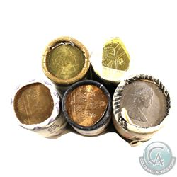 Rolls: $1 Original 1982 Constitution, 1987 Loon, 2005 Terry Fox, 2016 Lucky Loonie & 2017 100th Anni