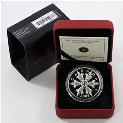 RCM Issue: 2007 Canada $20 Iridescent Crystal Snowflake Sterling Silver
