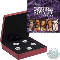 RCM Issue: 2008-2009 Canada $15 Vignettes of Royalty 5-Coin Sterling Silver Set.