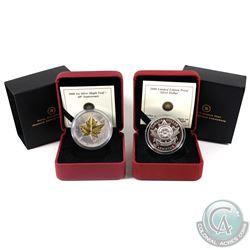 RCM Issue: 2008 Canada Poppy Limited Edition Proof Sterling Silver Dollar & 1988-2008 Canada $5 20th