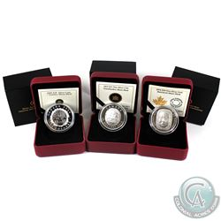 RCM Issue: 2009, 2013 & 2014 Moon Mask Fine Silver Coins - 2009 $20 Summer Moon Mask, 2013 $25 Grand