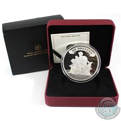 RCM Issue: 2010 Canada $50 75th Anniversary of the First Bank Notes 5oz Fine Silver Coin (outer slee