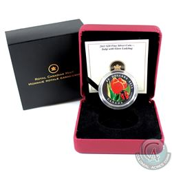 RCM Issue: 2011 Canada $20 Tulip with Venetian Glass Ladybug Fine Silver Coin (Tax Exempt).