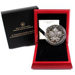 RCM Issue: 2013 Canada $50 Silver Maple Leaf 25th Anniversary 5oz Fine Silver Coin (capsule lightly