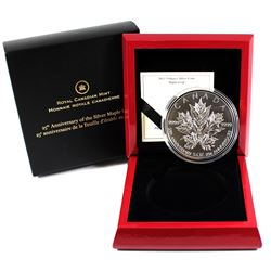 RCM Issue: 2013 Canada $50 Silver Maple Leaf 25th Anniversary 5oz Fine Silver Coin (capsule lightly