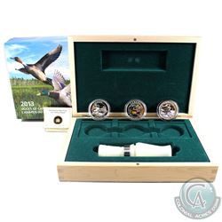RCM Issue: 2013-2014 $10 Ducks of Canada 3-coin Deluxe Box Set & Duck Caller (outer sleeve lightly w