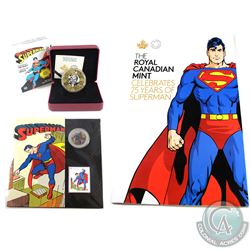 RCM Lot: Canada Superman Themed Lot Including 2013 50-cent Superman: Then and Now Lenticular Coin &