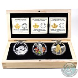 RCM Issue: 2014 Canada $20 Cougar Fine Silver 3-coin Series in Deluxe Case. You will receive Perched