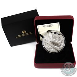 RCM Issue: 2014 Canada $50 Swimming Beaver 5oz Fine Silver Coin (Tax Exempt).
