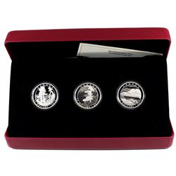 RCM Issue: 2015 Canada $15 Franklin Carmichael Fine Silver 3-coin Set (light scratch on one capsule)