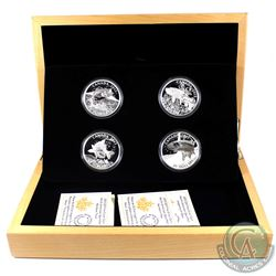 RCM Issue: 2015 Canada $20 Full American Sportfish 4-Coin Fine Silver Set in Deluxe Case (outer slee